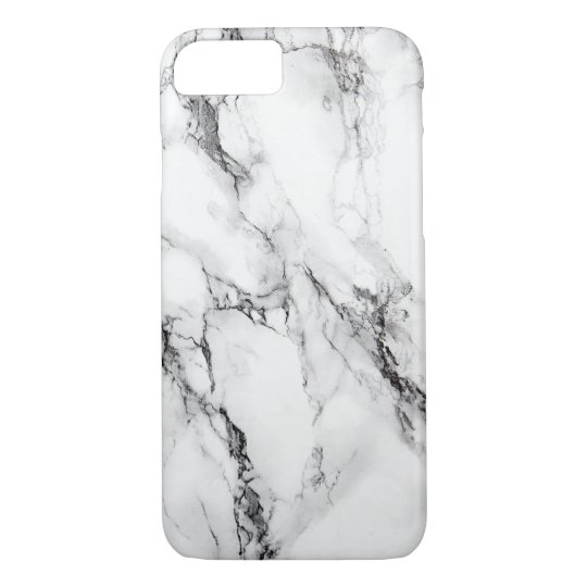 Grey Marble Stone Black Crack iPhone 8/7 Case