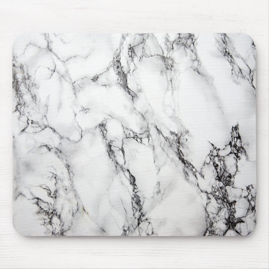 Grey Marble Stone Black Grain Mouse Pad