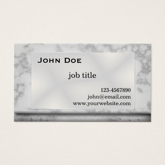Grey Marble Stone Business Card