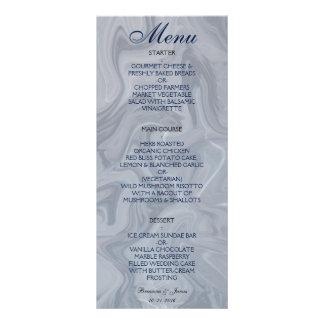 Grey Marble Watercolor Wedding Menu Rack Card Template