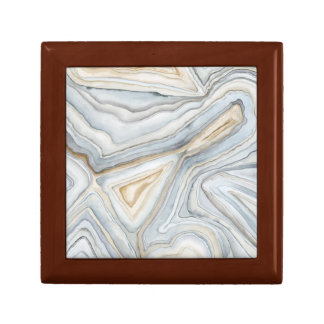 Grey Marbled Abstract Design Gift Box