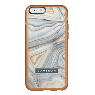 Grey Marbled Abstract Design Incipio Feather® Shine iPhone 6 Case