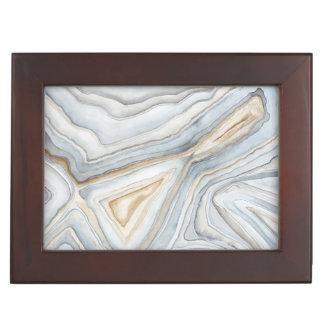 Grey Marbled Abstract Design Keepsake Box