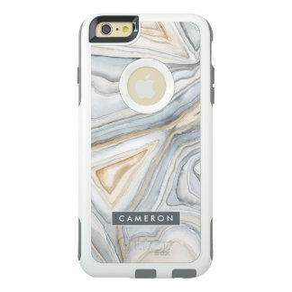 Grey Marbled Abstract Design OtterBox iPhone 6/6s Plus Case