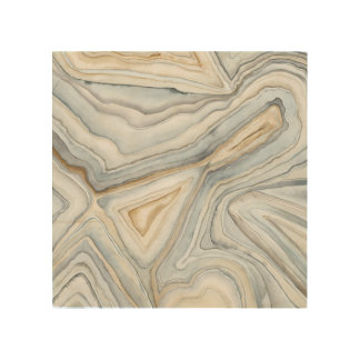 Grey Marbled Abstract Design Wood Wall Art