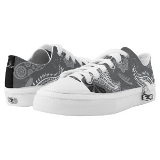 Grey Matters Print Pattern Low Tops
