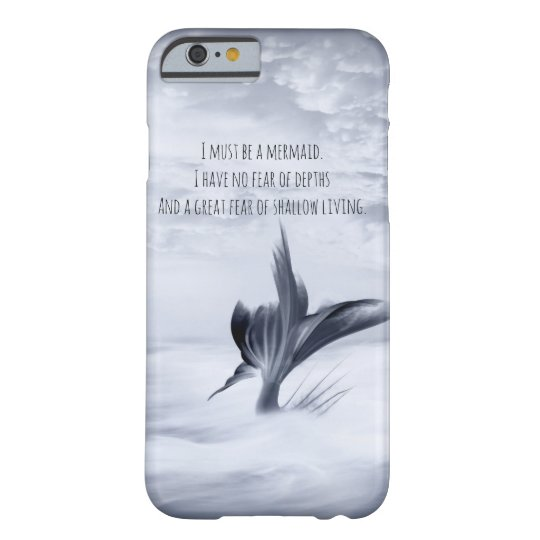 Grey Mermaid Shallow living Barely There iPhone 6