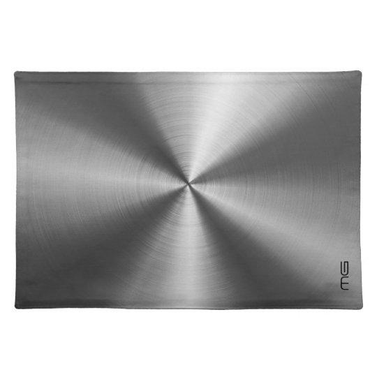 Grey Metallic Stainless Steel Look Place Mat