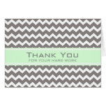 Grey Mint Chevron Employee Anniversary Card