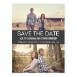 Grey Modern Photo Save The Date Post Cards