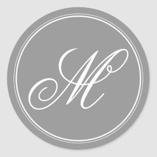 Grey Monogram Stickers