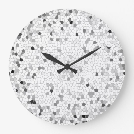 Grey Mosaic Large Clock
