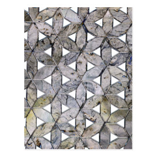 Grey mosaic postcard