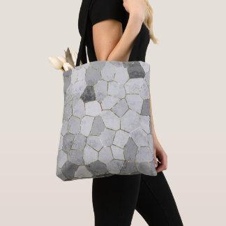 Grey Mosaic Tote Bag