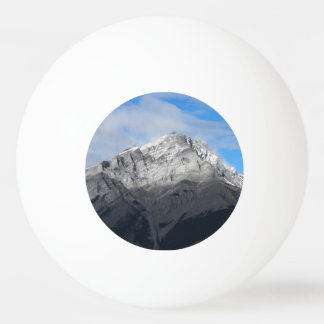 Grey Mountain Peak, Cloudy Blue Sky Ping Pong Ball