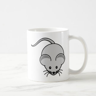 Grey Mouse Cartoon Coffee Mug