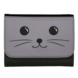 Grey Mouse Cute Animal Face Design Wallets