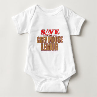 Grey Mouse Lemur Save Baby Bodysuit