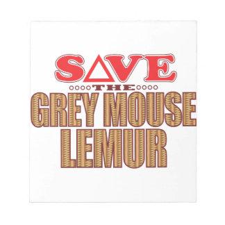 Grey Mouse Lemur Save Notepad