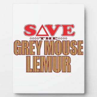 Grey Mouse Lemur Save Photo Plaque