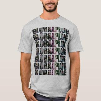 Grey Multi color globalplug Tshirt