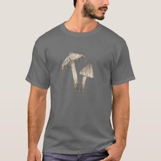 Grey Mushrooms Dark Tees