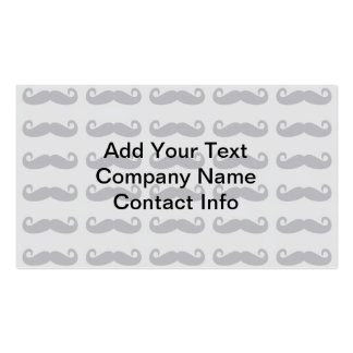 Grey Mustaches Pack Of Standard Business Cards