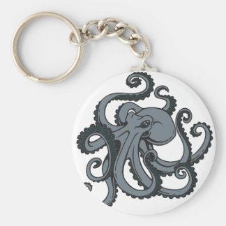 Grey Octopus Key Ring
