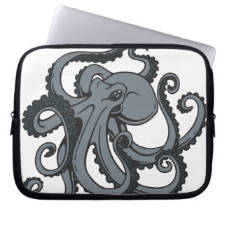Grey Octopus Laptop Computer Sleeves