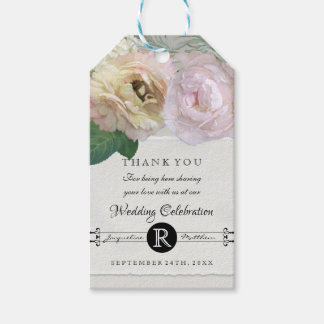 Grey Ombre Vintage Gift Tags French Flower Market