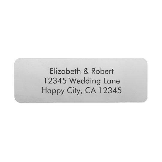 Grey Ombre Watercolor Return Address Label