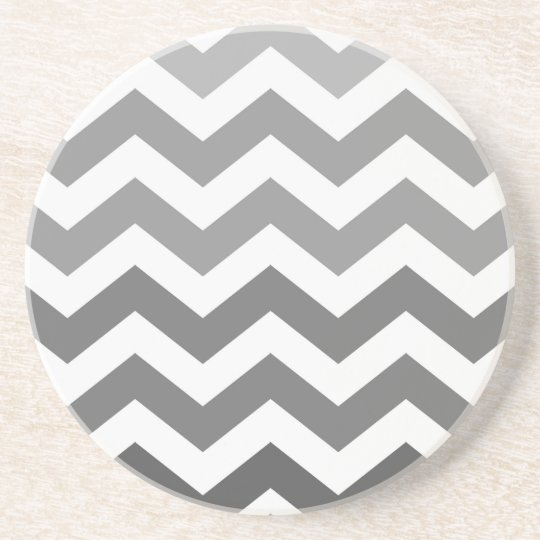 Grey Ombre Zigzags Coaster