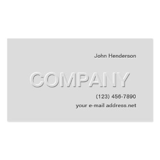 Grey on Grey Pack Of Standard Business Cards