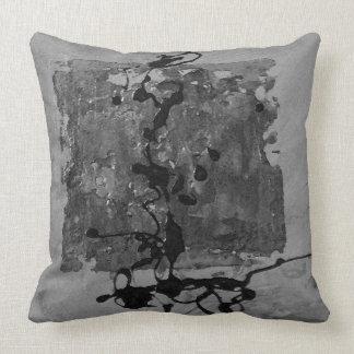 Grey on grey zen inspired pillow