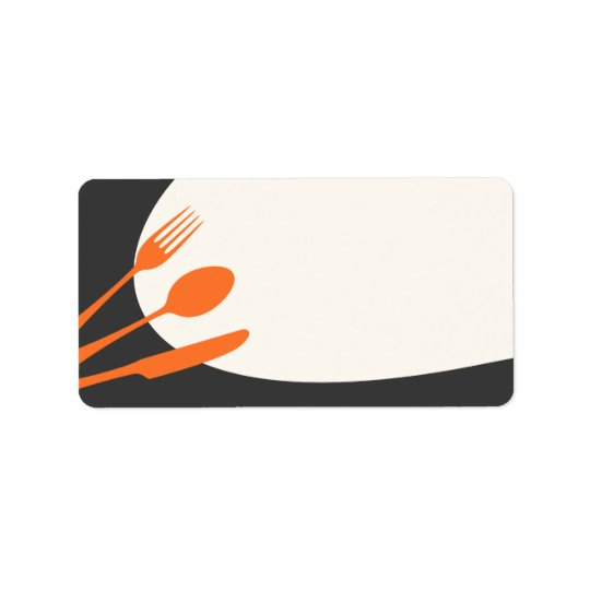 Grey orange blank modern canning baking kitchen label