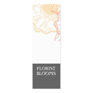 Grey Orange Red Modern Florist Product Tags Card Pack Of Skinny Business Cards