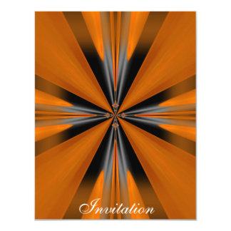 Grey Orange Rust Geo Shapes 11 Cm X 14 Cm Invitation Card