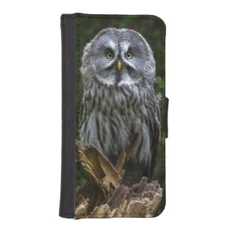 Grey owl iPhone SE/5/5s wallet case