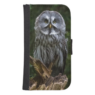 Grey owl samsung s4 wallet case