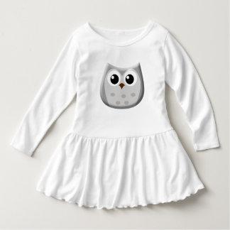 Grey Owl Toddler Ruffle Dress