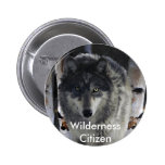 GREY PACK WOLF Collection 6 Cm Round Badge