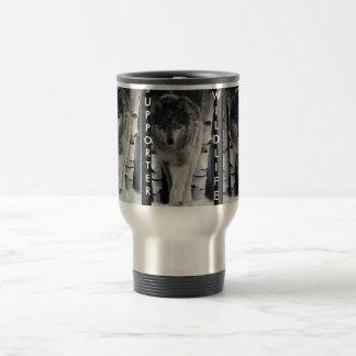GREY PACK WOLF Wildlife Supporter Travel Mug