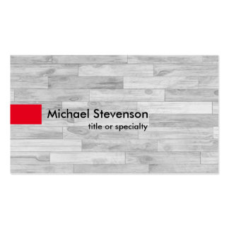 Grey Parquet Red Modern Unique Consultant Pack Of Standard Business Cards