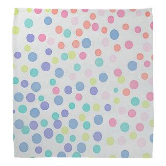 Grey pastel multicolor dots bandanna