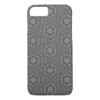 Grey pattern iPhone case