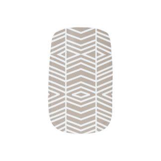 grey Pattern Minx Nail Art
