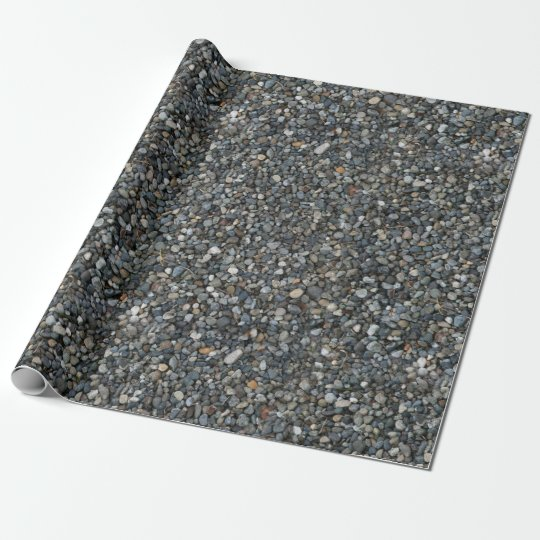 Grey Pea Gravel Rocks Pebbles Wrapping Paper