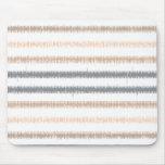 Grey Peach Ikat Stripes Mouse Pad