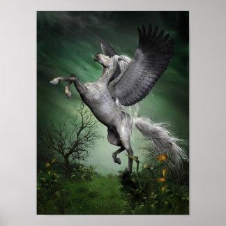 Grey Pegasus Poster