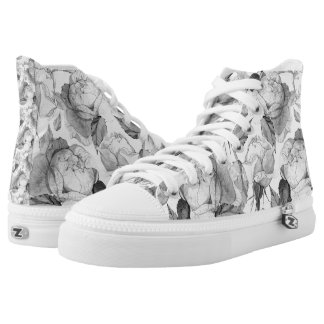 grey peonie high tops
